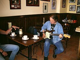 jamming at Taste Café